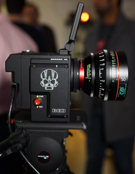 The RED Raven with Canon Cine Prime