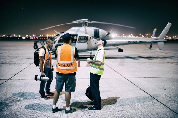 Prepping for flight. Photo: Joseph Hutson/Dubai Film