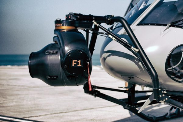 The Shotover F1 gyro stabilised system mounted to the front of the  helicopter Photo: Joseph Hutson/Dubai Film