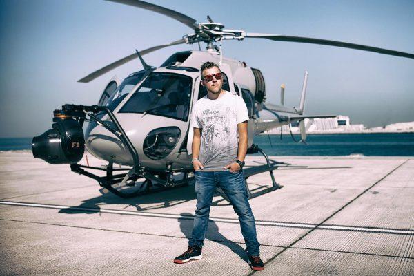 Aerial Cinematographer Phil Arntz. Photo: Joseph Hutson/Dubai Film