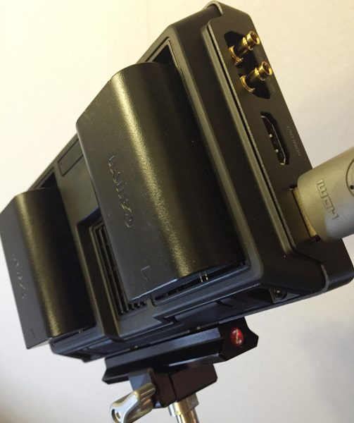 The Video Assist runs on Canon LP-E6 type batteries