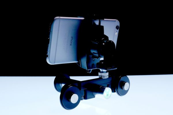 The Hercules with iPhone mounted