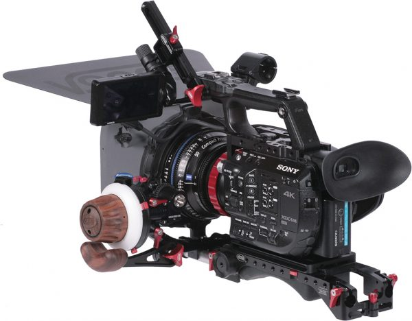 The FS5 with new Vocas USBP-15 MKII baseplate attached