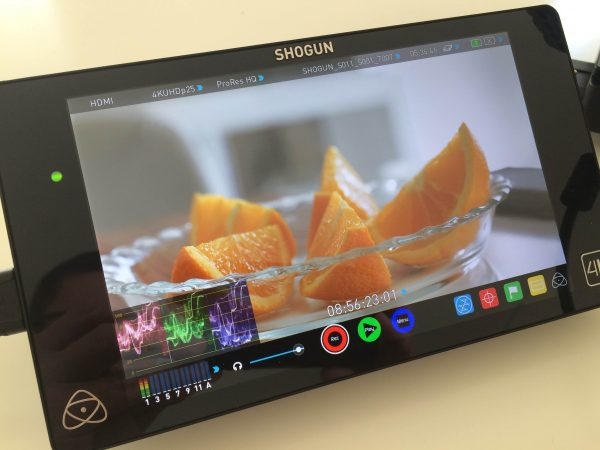 The Iris-Drive has been certified by Atomos for use in their Shogun and Ninja Assassin recorders.