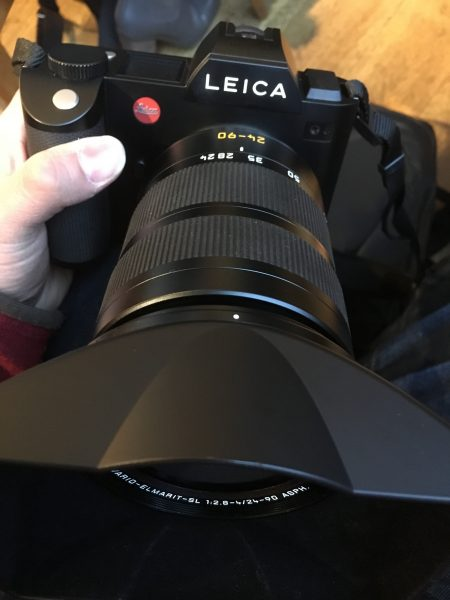 The 24-90mm f2.8-4 lens is big and beautiful.