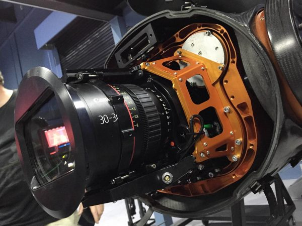 RED Dragon with Canon 30-300mm Cine zoom on the Shotover gimbal Photo: Phil Arntz/Dubai Film
