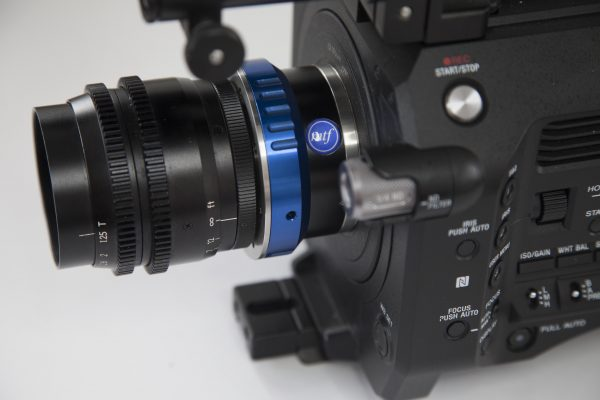 The MTF ARRI bayonet to E-mount adapter with Cinema Products Super16 lens