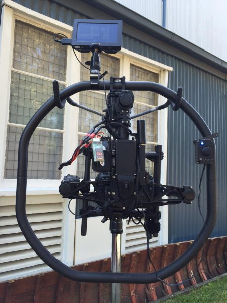 The Blackmagic Video assist on the Freefly Movi M5