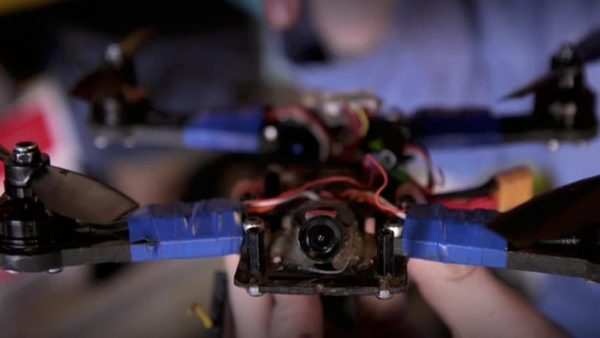 It might not look like much , but drones like this one can reach speeds of up to 70mph