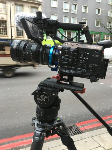 Super16 lenses can be used in the FS5's crop mode with a suitable adapter