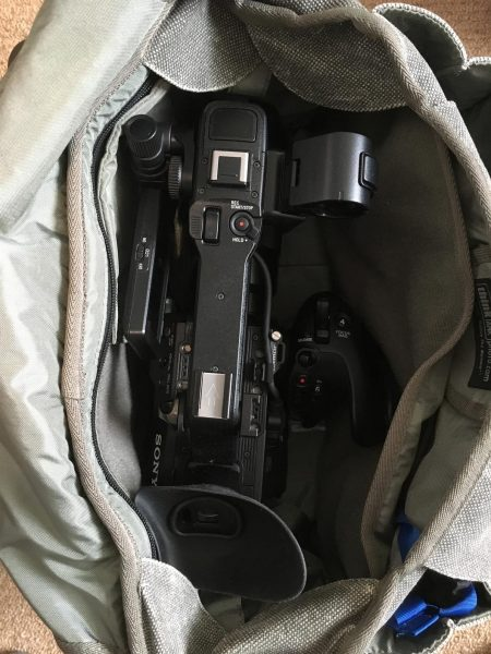 The FS5 packs down very small - you couldn't fit an FS7 in here!