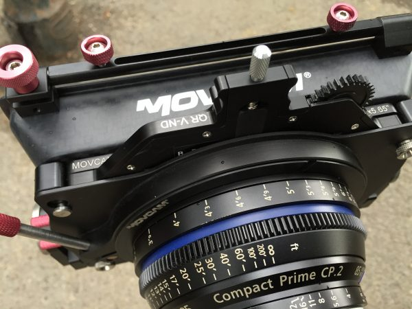 The filter kit occupies a single stage of the matte box