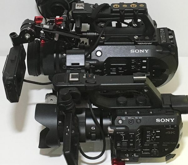 The FS5 (bottom) with big brother FS7