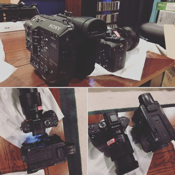 Paul Antico's Sony FS5 next to his a7R II