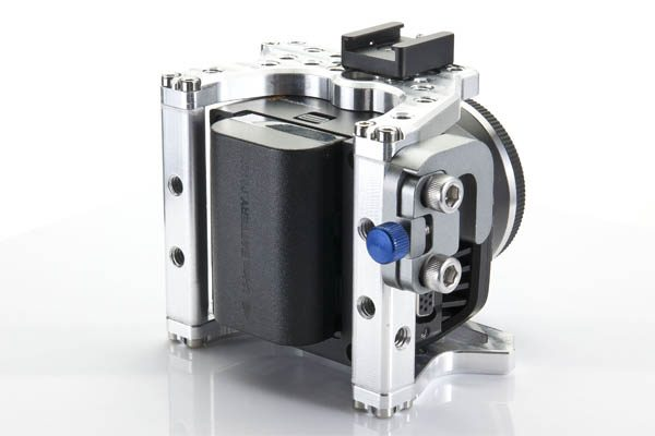 The camera (very rare) can run from LP-E6 batteries (very common).