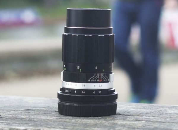 The Soligor 135mm lens is a real oldie