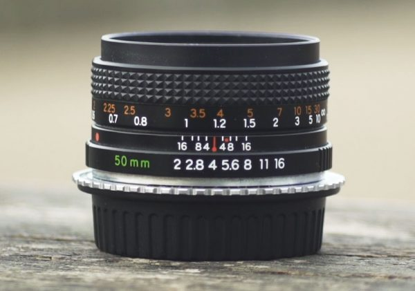 Yashica's 50mm f2 can readily be found  cheaply secondhand