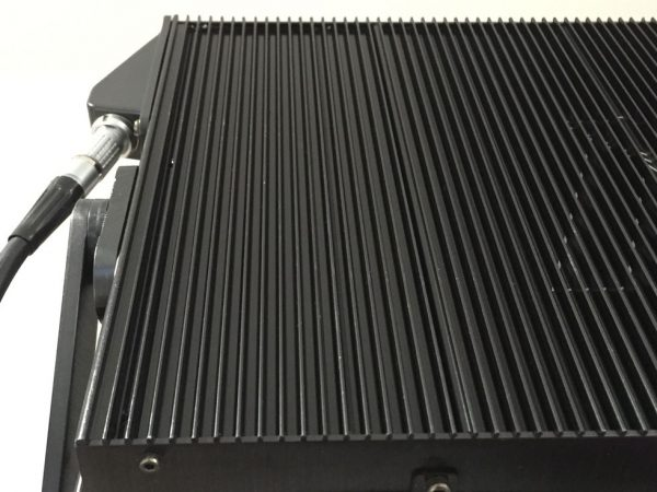 The whole back of the unit is one big heatsink to help prevent colour shift and other nasties that come with overheated LEDs.