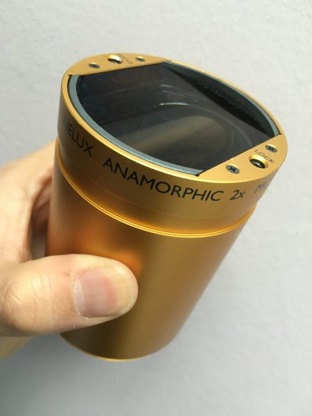 The Schneider 2x anamorphic is one of several that are compatible with the 3FF-W