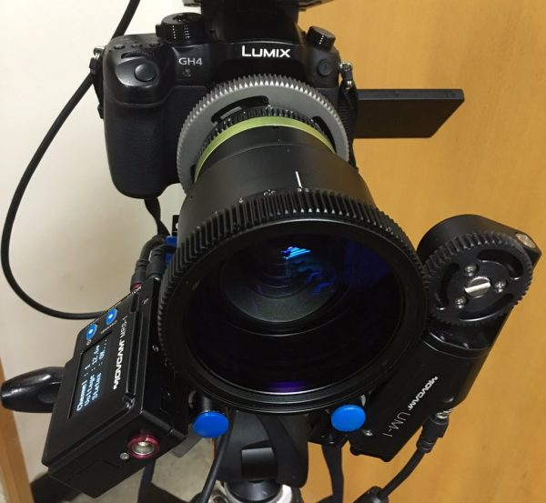 The Anamorphot 1.33x with an adapter on a Panasonic GH4