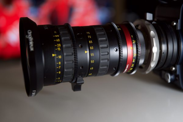 The Duclos Macro Extension Tube and Angenieux 30-76mm zoom