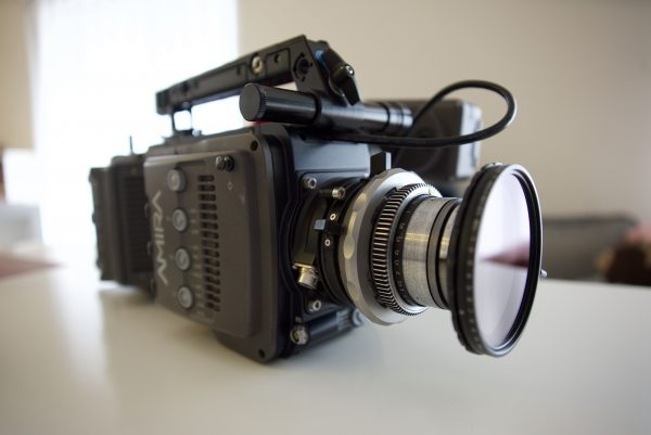 The Duclos Lenses Macro Extansion Tube on the Arri Amira using a Dog Schidt Optics lens