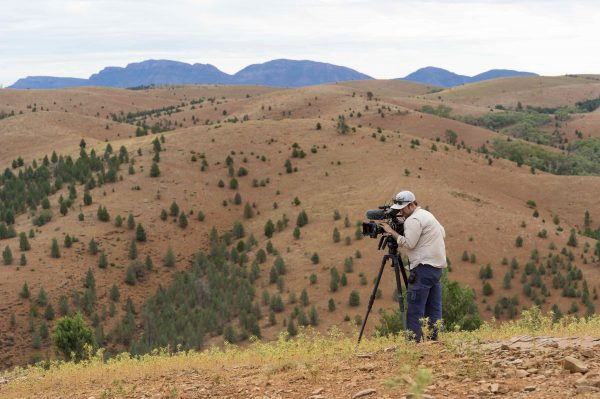 Gavin shooting with his F55 in the Flinders Ranges