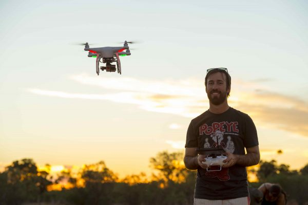Gavin flying the DJI Phantom 2 with a Hero 4 Black