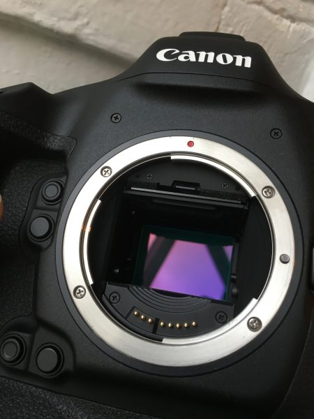 The full-frame sensor has a 1.3x windowed crop for 4K shooting.