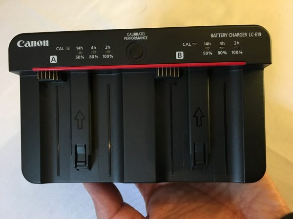 The new dual battery charger is more compact than the previous one.