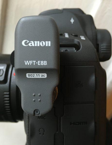 The new WFT-E8B wireless transmitter add-on.