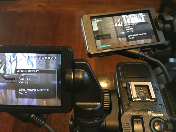 FS5 cameras with old and new firmware side by side.