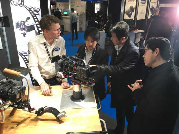 The Vocas stand had some interest from the Sony FS5 team.