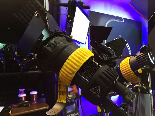The DLED7 Turbo at BVE 2016 in London - the units are compatible with regular Dedo accessories.