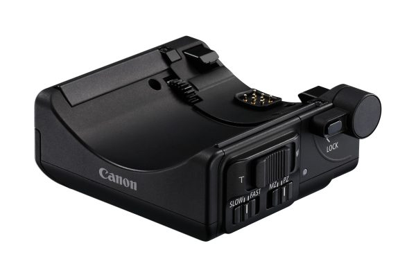 The PZ-E! power zoom adapter clips to the bottom of the new 18-135 lens and can be controlled remotely via an app.
