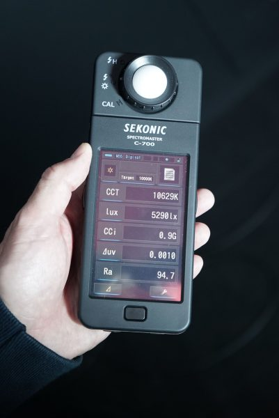 The 10000k results on the Sekonic C-700