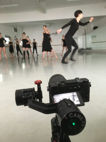 I used the CameTV gimbal as a kind of mini tripod for the wide shot (although annoyingly the floor ended up bouncing)
