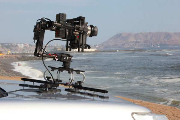The Cloud mount can easily carry a RED camera and gimbal