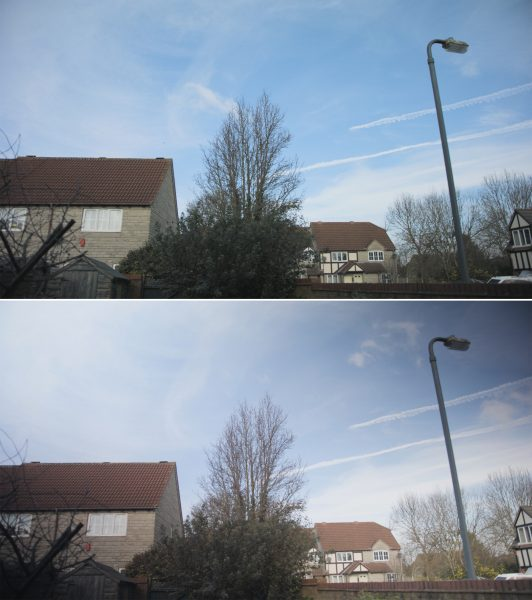 Images with the Format-hitech IRND filter (top) and Tiffen variable ND (bottom).