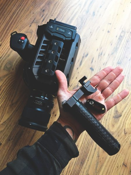 My solution for the BMD top handle using Small Rig parts