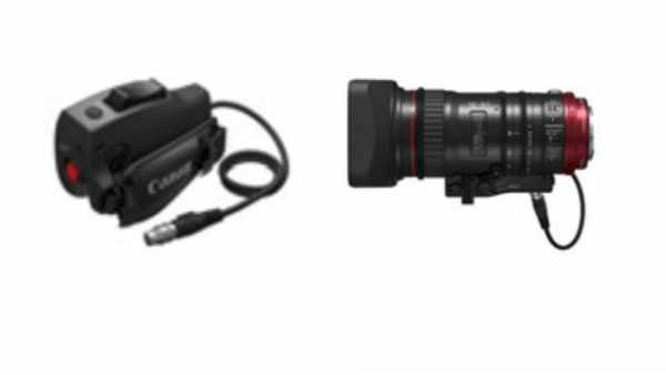 The ZSG-C10 zoom grip (left) attaches to the lens and can draw power straight from the EF mount itself