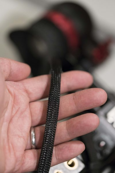 A braided SDI and Lemo power cable is an optional extra from Zacuto.