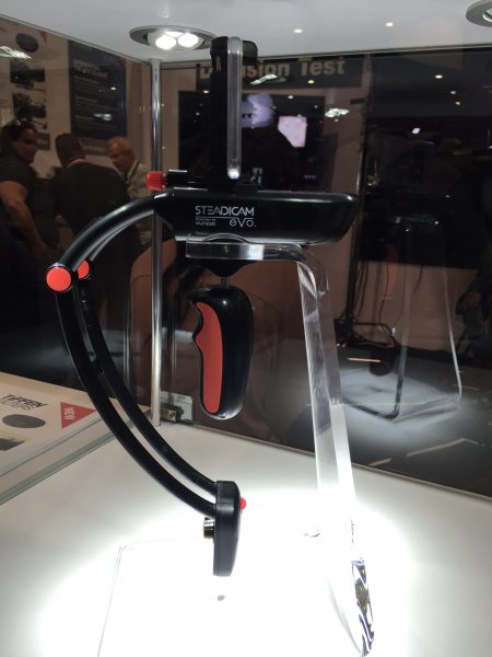 The Steadicam eVo on display on the Tiffen booth at NAB