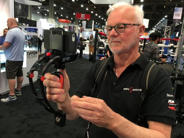 Newsshooter.com guest presenter Rodney Charters checks out the Steadicam eVo