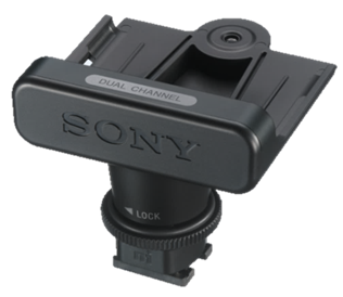 The optional Sony SMAD-P3D MI shoe interface