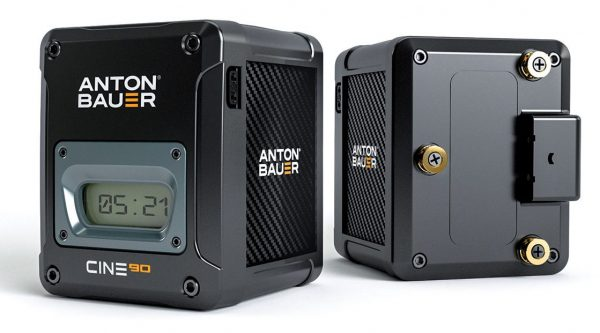 A/B CINE-series batteries have an LCD display that will tell you exactly what percentage of charge is left.