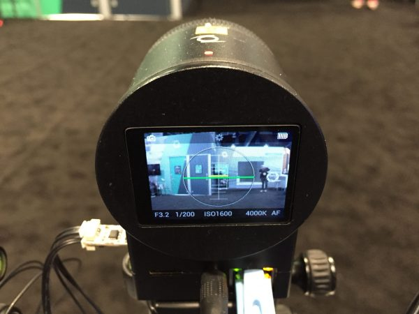 The Z-cam C1 has a small screen on the rear