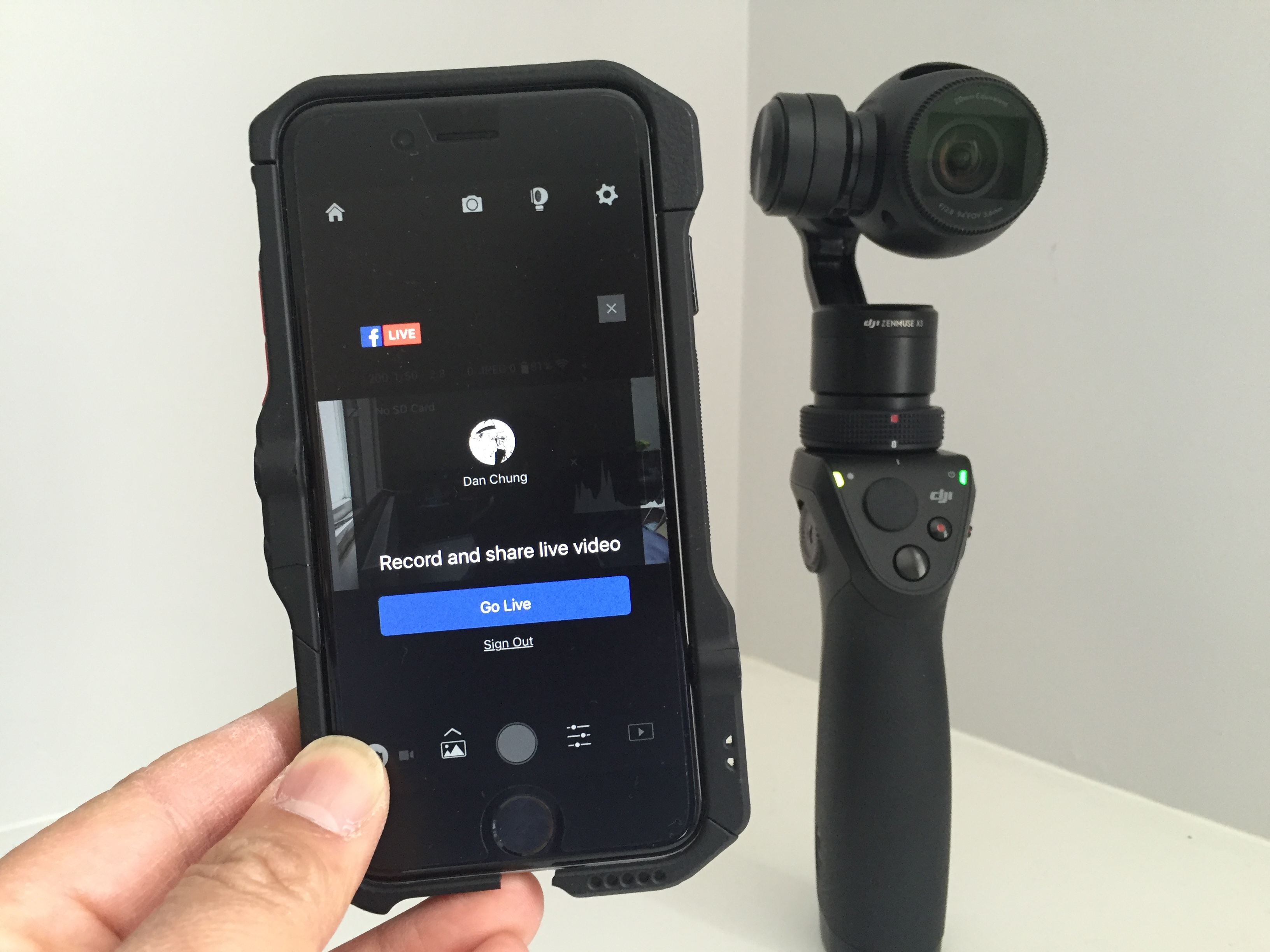 Dji adds facebook live support to the dji go ios app for Facebook camera