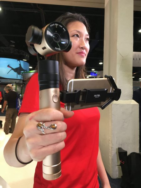 The Autel 4K handheld camera and gimbal