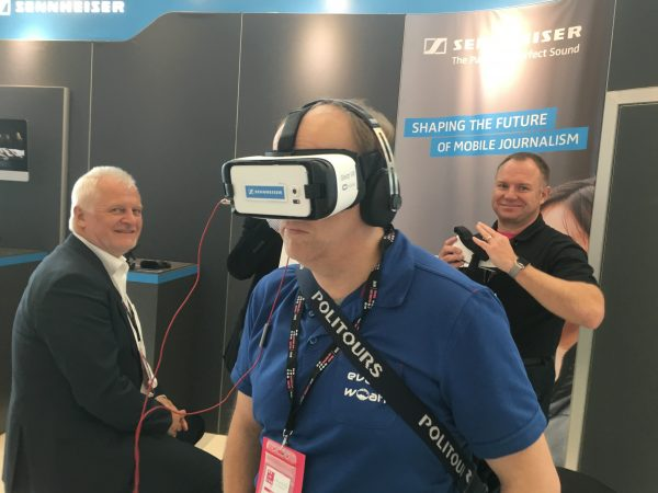 Big industry players like Sennheiser had a large presence at Mojocon
